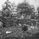 New 5x7 Civil War Photo: Behind Breastworks on Little Round Top, Gettysburg