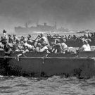 New 5x7 World War II Photo: Landing Barges Sweep Beaches of Leyte Island