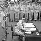 New 5x7 World War II Photo: Surrender of Japan aboard USS MISSOURI