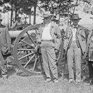 New 5x7 Civil War Photo: Union & Confederate Vets at High Water Mark, Gettysburg