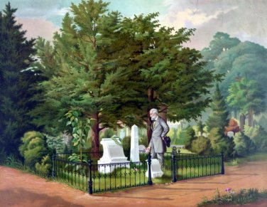 "New 13x16 Poster: General Robert E. Lee at Thomas ""Stonewall"" Jackson Grave"