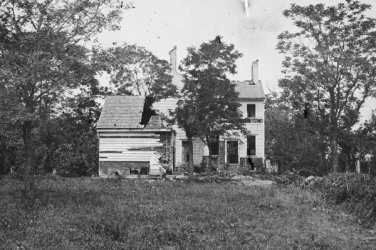 New 5x7 Civil War Photo: Shelled House on the Banks of Rappahannock River