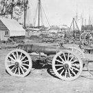 New 5x7 Civil War Photo: Park of Artillery at Broadway Landing, Appomattox River