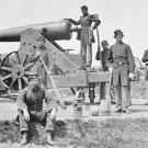 New 5x7 Civil War Photo: Crew with Siege Gun at Fort Corcoran in Arlington