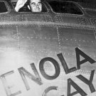 New 5x7 World War II Photo: Paul Tibbets in the Enola Gay, Atomic Bomb Aircraft