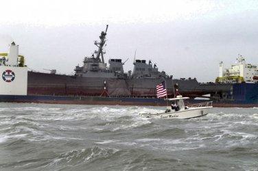 New 5x7 Photo: Stricken USS COLE (DDG 67) aboard BLUE MARLIN, U.S. Navy