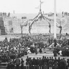 New 5x7 Civil War Photo: Flag Raising at Fort Sumter Anniversary, 1865