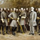 New 10x19 Poster: Robert E. Lee with Confederate Generals of the Civil War