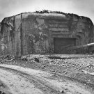 New 5x7 World War II Photo: German Gun Battery Silenced in France, 1944
