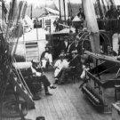 New 5x7 Civil War Photo: U.S. Naval Officers on Ship Deck