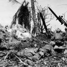 New 5x7 World War II Photo: 7th Division Fighting Japanese on Kwajalein Island