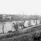 New 5x7 Civil War Photo: View Across the Rappahannock River in Fredericksburg
