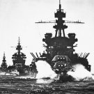 New 5x7 World War II Photo: USS PENNSYLVANIA and Cruisers head to Lingayen Gulf
