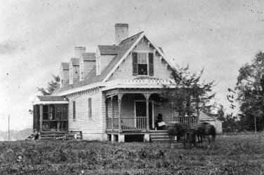 New 5x7 Civil War Photo: Haxall's House, used as Hospital after White Oak Swamp
