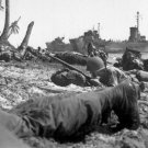 New 5x7 World War II Photo: American Troops Hit the Beaches of Leyte Island