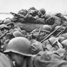 New 5x7 World War II Photo: Soldiers Cross the Rhine River Under Heavy Fire