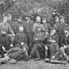 New 5x7 Civil War Photo: Union General Randolph Marcy & Officers in Camp