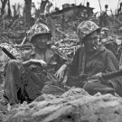 New 5x7 World War II Photo: Marines on Peleliu Island 1944