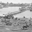 New 5x7 Civil War Photo: Pontoon Bridge over Rappahannock River at Port Royal