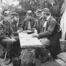 New 5x7 Civil War Photo: Dominoes at Camp Winfield Scott in Yorktown, Virginia