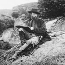 New 5x7 Civil War Photo: Artist Alfred R. Waud Sketching Gettysburg Battlefield
