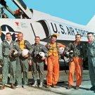 New 5x7 NASA Photo: Original Mercury 7 Astronauts with F-106B Jet Aircraft