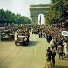 New 5x7 World War II Photo: Crowd Celebrates Paris Liberation at Champs Elysees