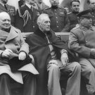 New 5x7 World War II Photo: Winston Churchill, FDR and Joseph Stalin in Yalta