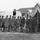 New 5x7 Civil War Photo: Abraham Lincoln with George McClellan & Officers