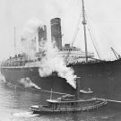 New 5x7 World War I Photo: Ill-Fated Liner RMS LUSITANIA, Torpedoed by Germans