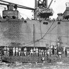 New 5x7 World War II Photo: Coast Guardsmen & Marines Swim in Pacific Ocean