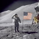 New 5x7 NASA Photo: Astronaut David Scott Salutes Flag on Moon, Apollo 15