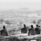 New 5x7 Civil War Photo: Union Soldiers Relaxing at Cumberland Landing