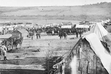 New 5x7 Civil War Photo: 5th Pennsylvania Cavalry at Fort Burnham, Virginia
