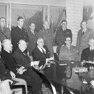 New 5x7 World War II Photo: American and British Military Leaders at Casablanca