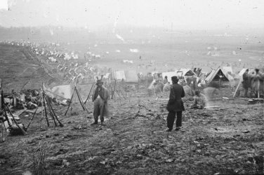 New 5x7 Civil War Photo: Federal Line During the Battle of Nashville