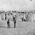 New 5x7 Civil War Photo: Camp on Morris Island in Charleston Harbor