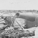 New 5x7 Civil War Photo: Large Gun at Confederate Fortifications, Yorktown