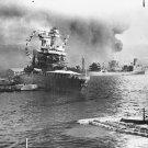 New 5x7 World War II Photo: Stricken Ships at Pearl Harbor, USS CALIFORNIA
