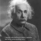 New 8x10 Photo: Scientist & Genius Albert Einstein with Famous Quote