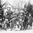 New 5x7 Civil War Photo: Union - Federal General William Gamble and Staff