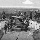New 5x7 Civil War Photo: Parrott Gun of 3rd Massachusetts, Fort Totten