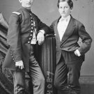 New 5x7 Civil War Photo: Sergeant John Clem with his Brother, 1865