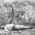 New 5x7 Civil War Photo: Confederate Dead at Devil's Den, Gettysburg Battlefield