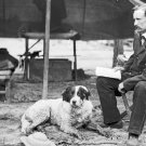 New 5x7 Civil War Photo: Union General George Armstrong Custer with Dog