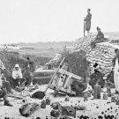 New 5x7 Civil War Photo: Exploded Gun in Confederate Battery, Yorktown