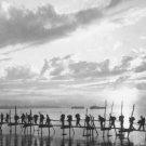 New 5x7 World War II Photo: Silhouette of Troops at Pandu Ghat