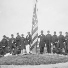 New 5x7 Civil War Photo: Signal Corps Officers Lower Flag at Georgetown