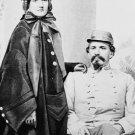 New 5x7 Civil War Photo: CSA Confederate General John Hunt Morgan & Wife