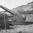 New 5x7 Civil War Photo: Interior View with Gun at Fort Putnam on Morris Island